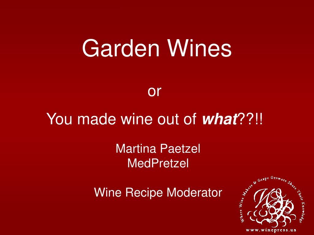 garden wines l.