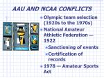 aau and ncaa conflicts