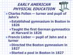 early american physical education5
