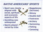 native americans sports