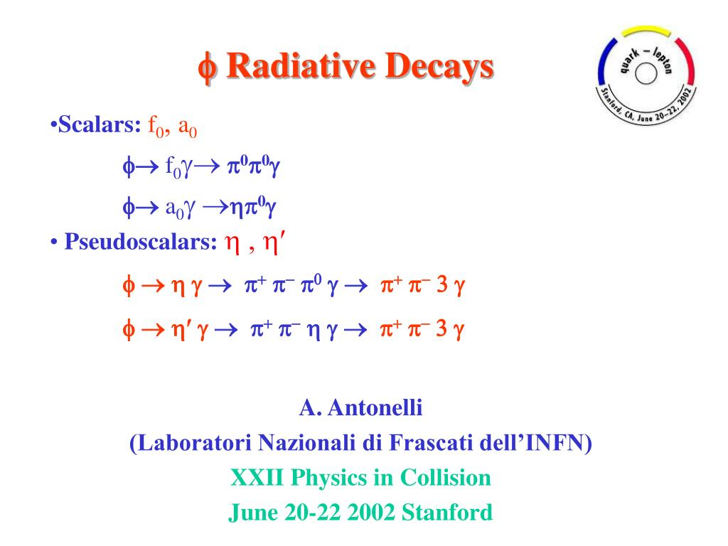 radiative decays l.
