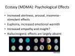 ecstasy mdma psychological effects