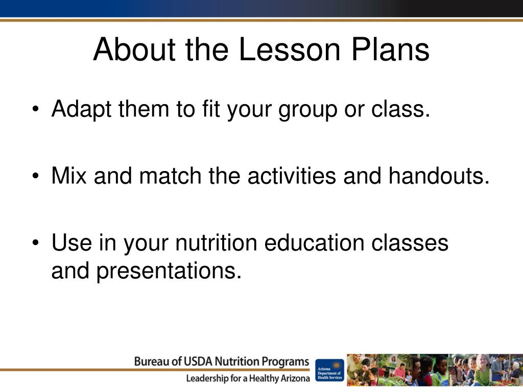 About the Lesson Plans