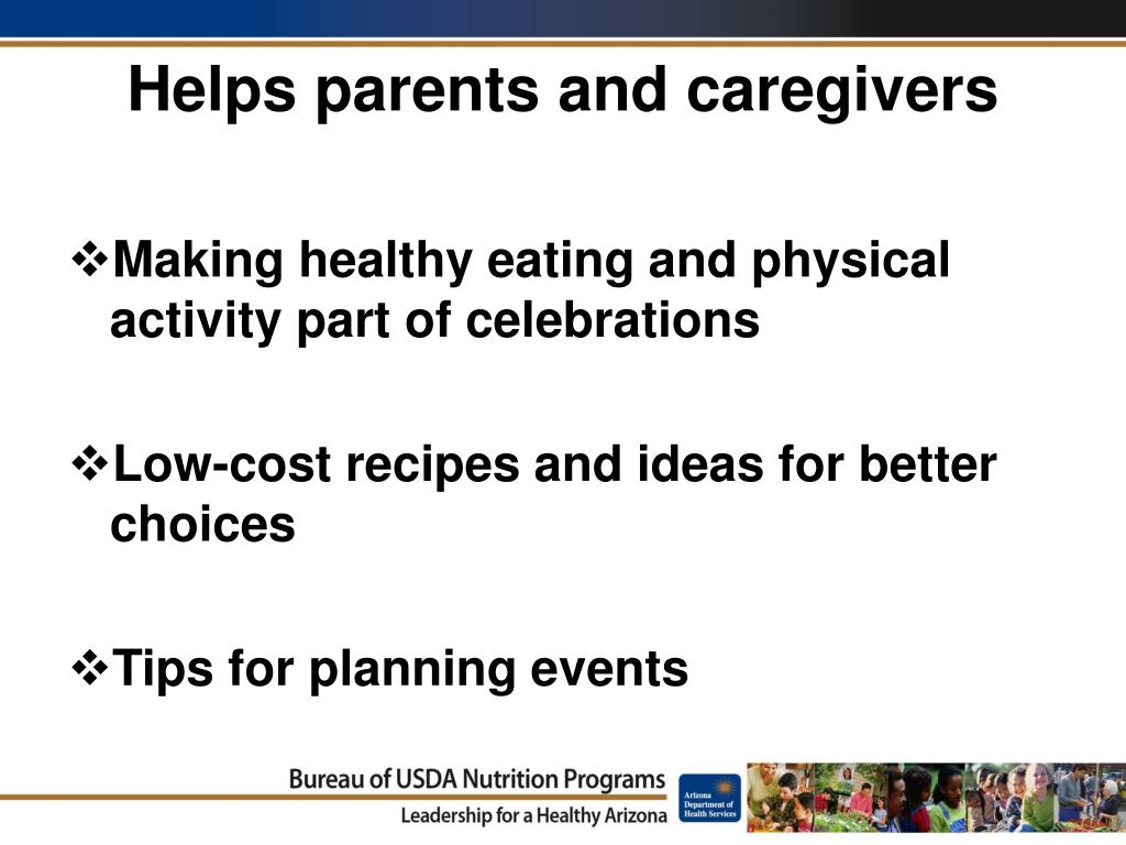 Helps parents and caregivers