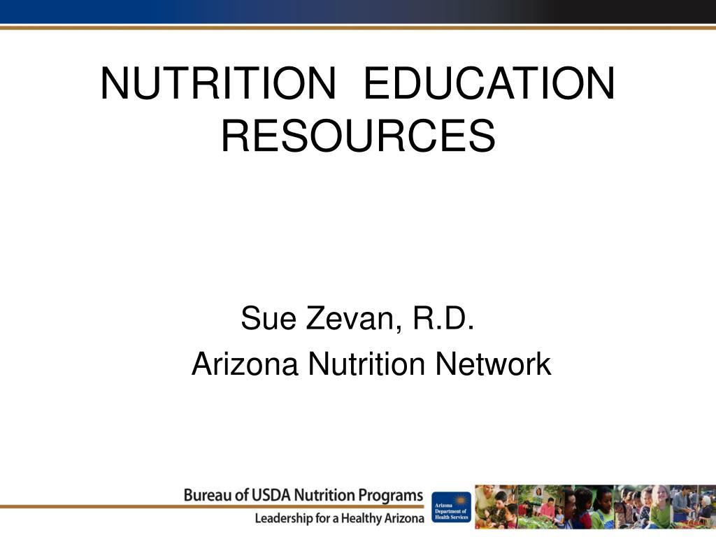 nutrition education resources l.