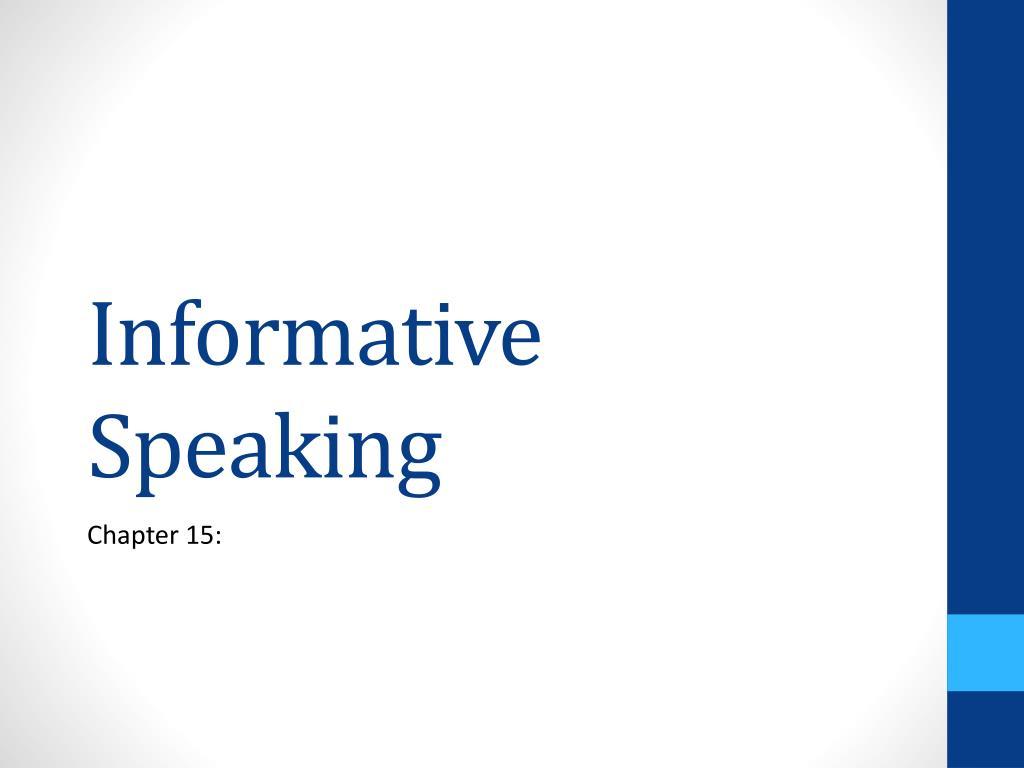 informative speaking l.