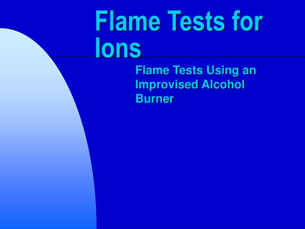 flame tests for ions l.