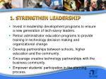 1 strengthen leadership
