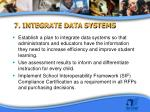 7 integrate data systems