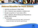 distance education for public schools