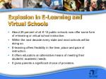 explosion in e learning and virtual schools
