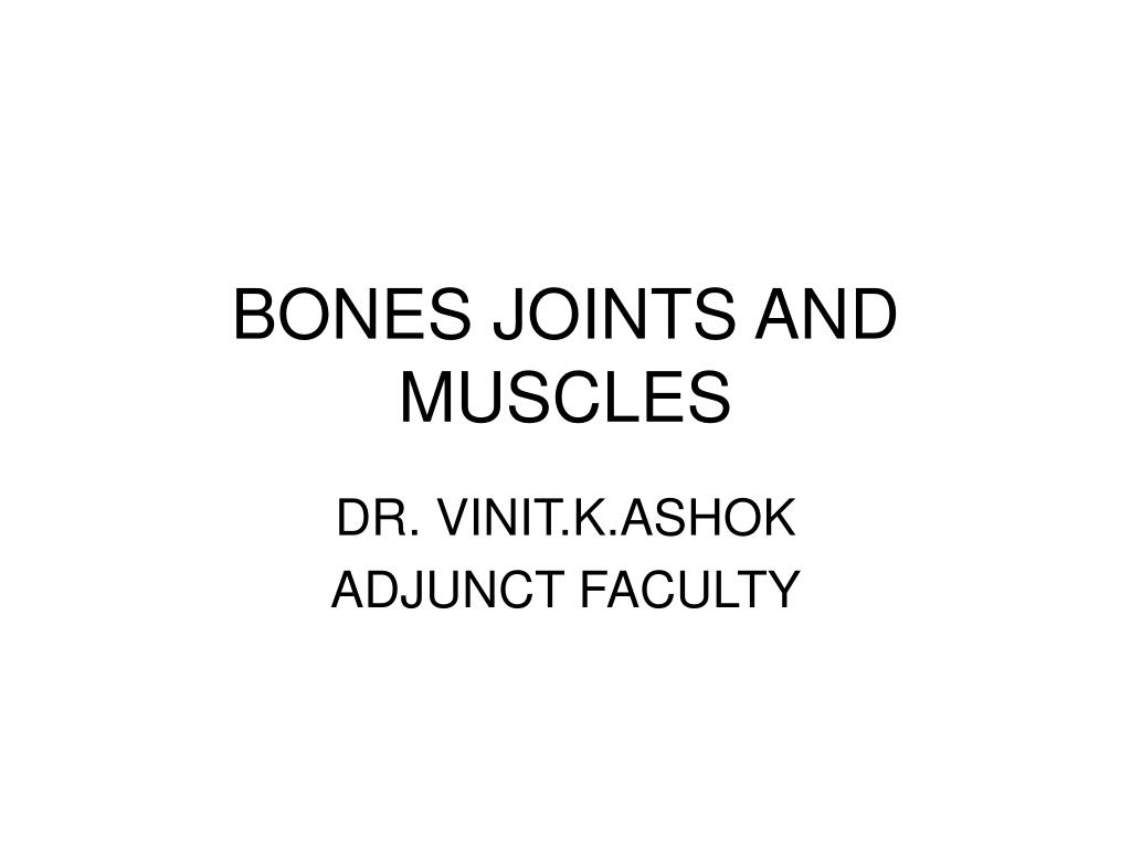 bones joints and muscles l.