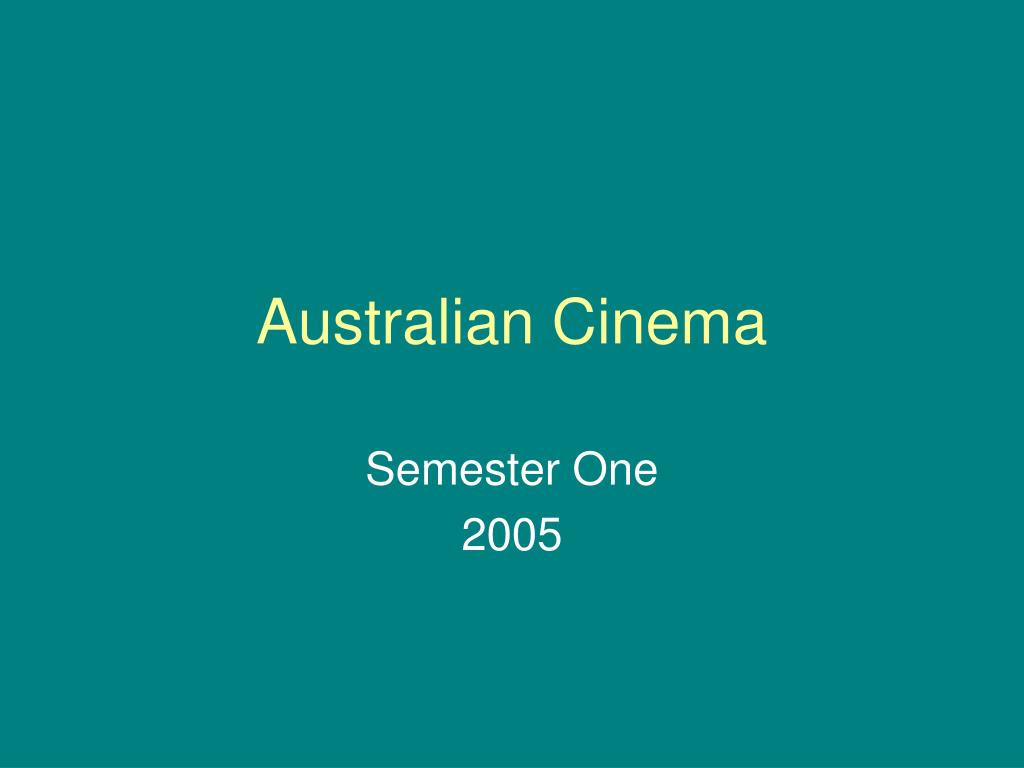 australian cinema l.