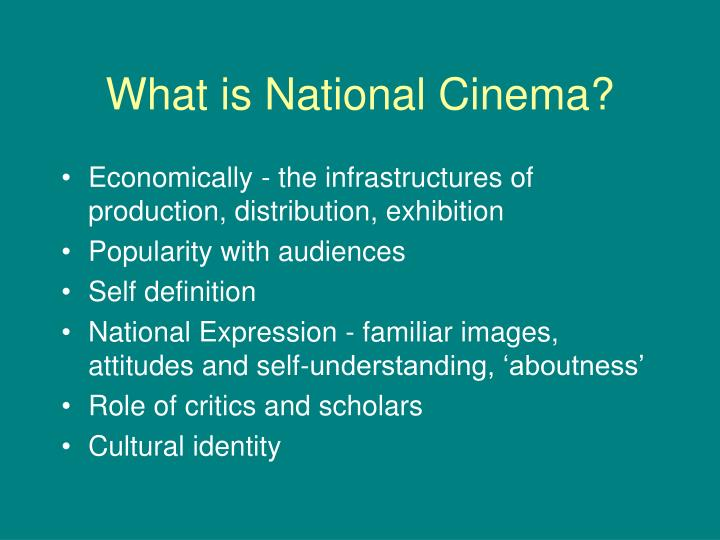 What is national cinema