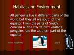 habitat and environment