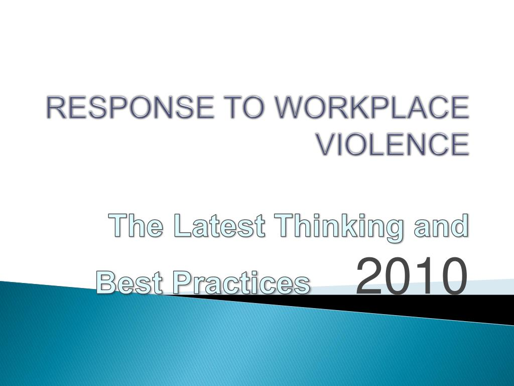response to workplace violence l.