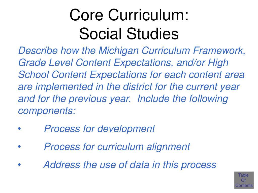 Core Curriculum: