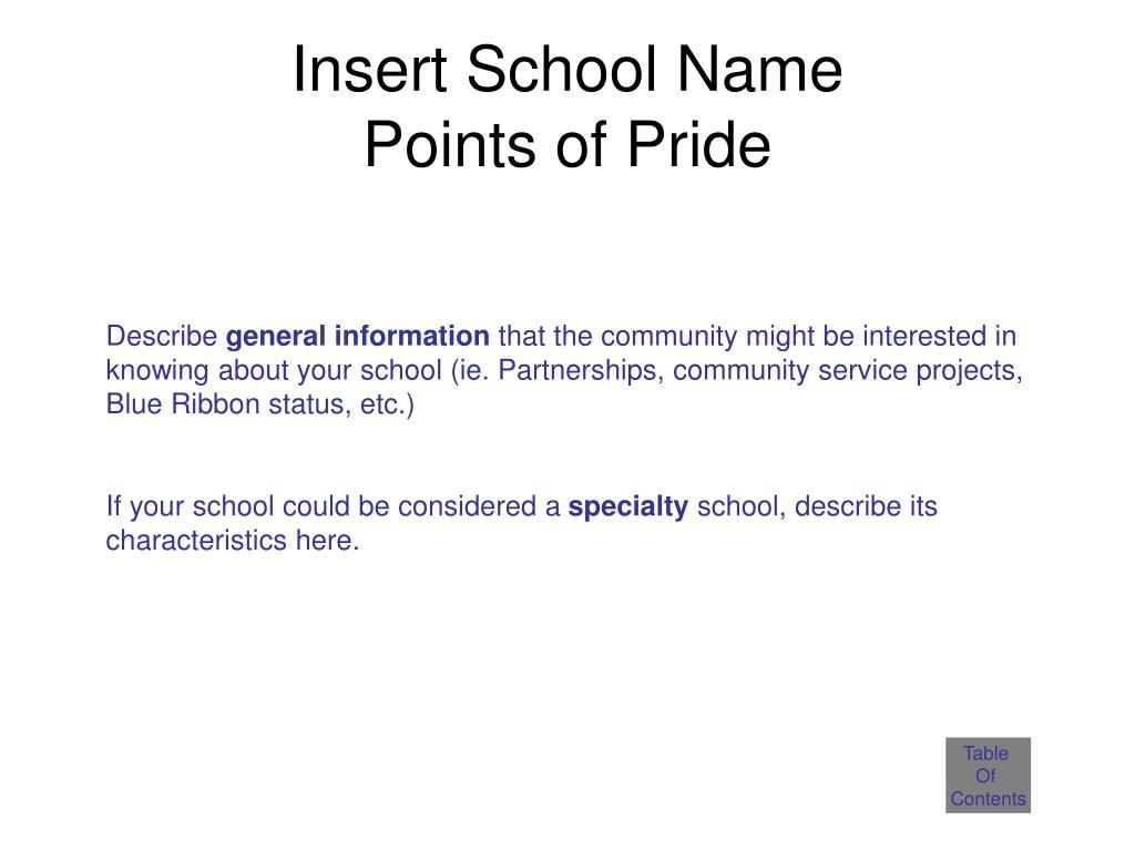 Insert School Name