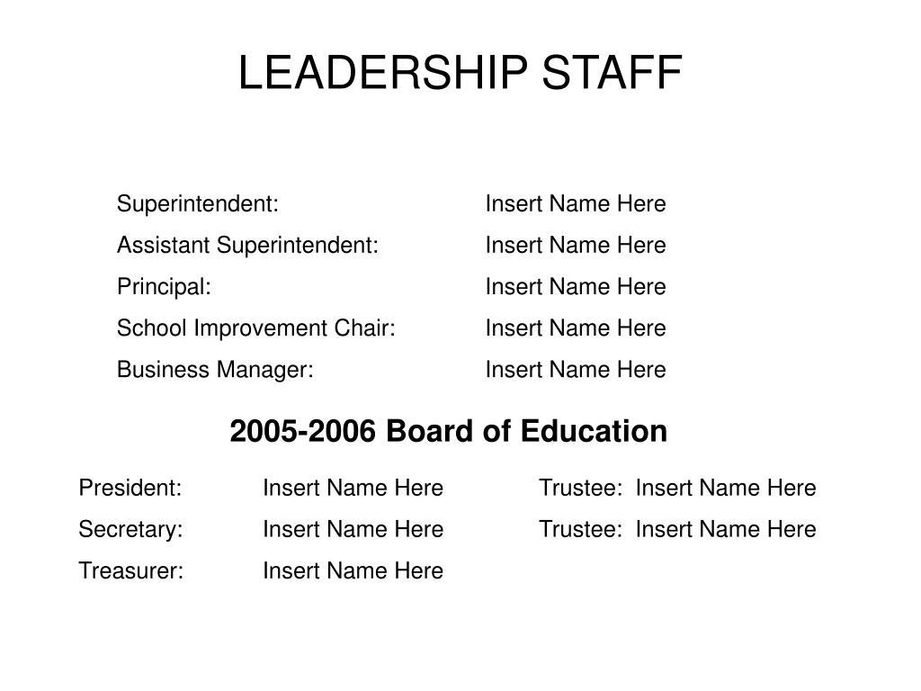 LEADERSHIP STAFF