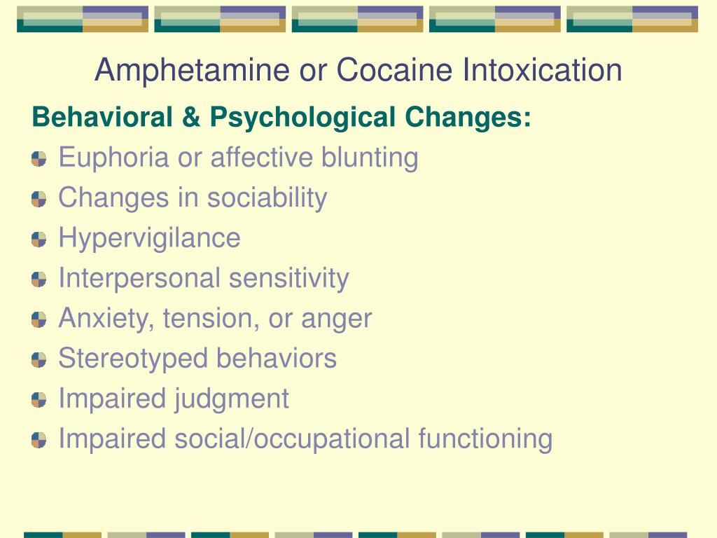 Amphetamine or Cocaine Intoxication