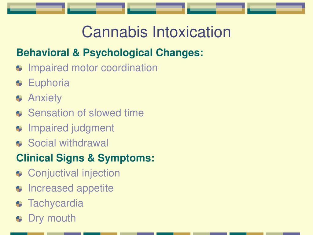 Cannabis Intoxication