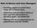 role of nurses and case managers25