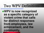 two wpv definitions10