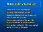 1 free market or laissez faire