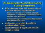 3 management by audit of benchmarking quality enhancement