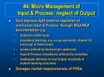 4 micro management of input process neglect of output