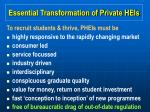 essential transformation of private heis