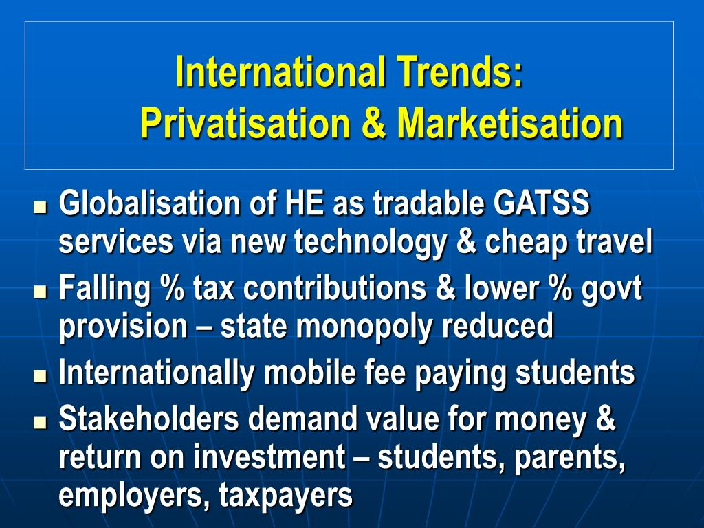 the role of private institutions in