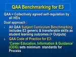 qaa benchmarking for e3