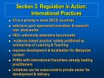 section 3 regulation in action international practices