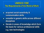 unesco 1998 the requirements of the world of work7