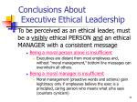 conclusions about executive ethical leadership