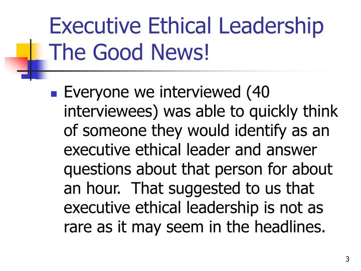 Good Morning Everyone Executive Decision Download : Ppt ethical leadership creating an culture