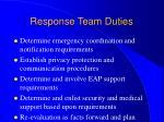 response team duties37