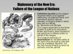 diplomacy of the new era failure of the league of nations5