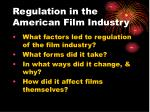 regulation in the american film industry