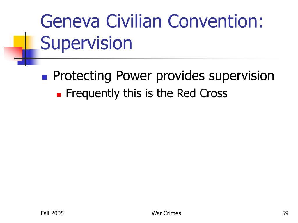 Geneva Civilian Convention: