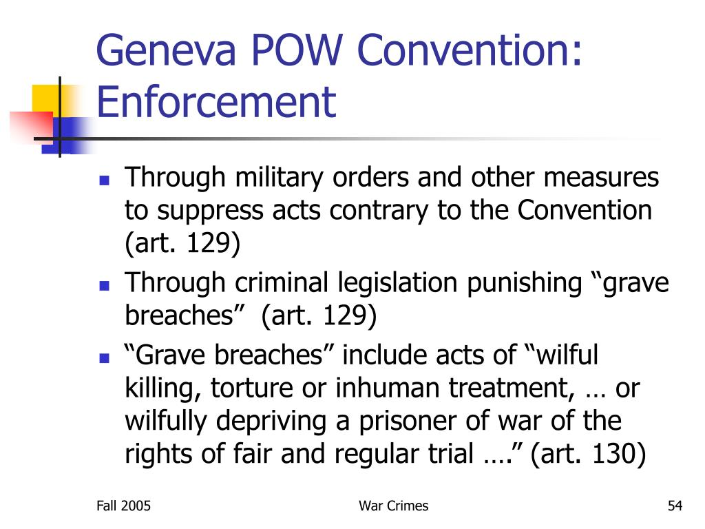 Geneva POW Convention: