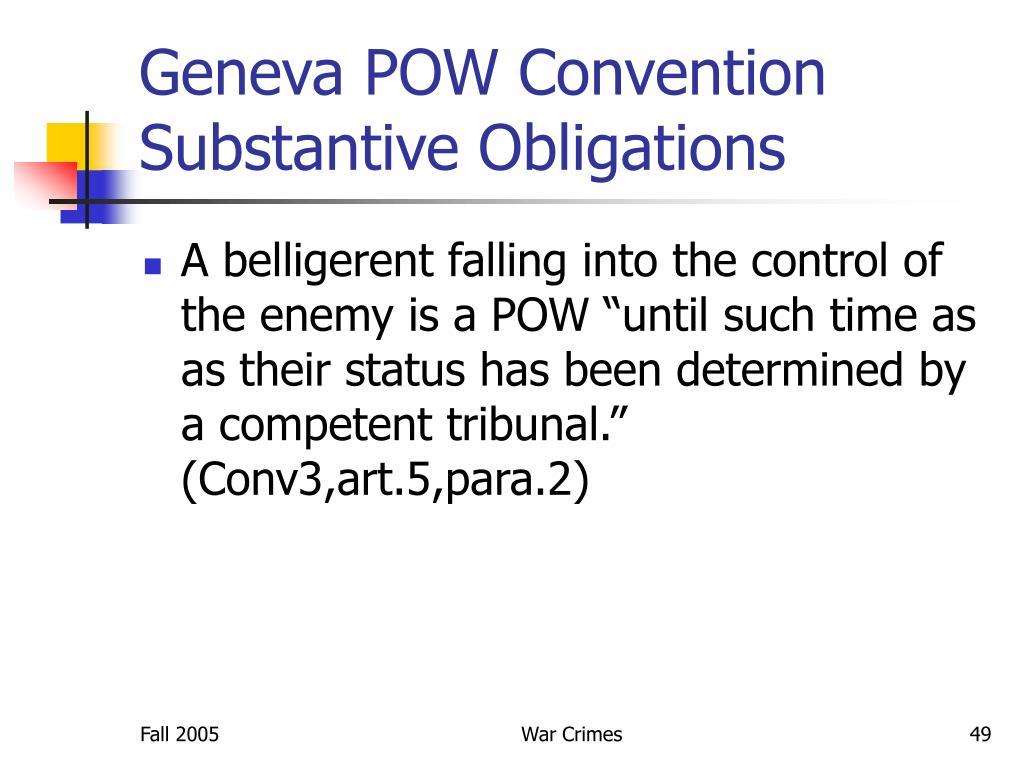 Geneva POW Convention