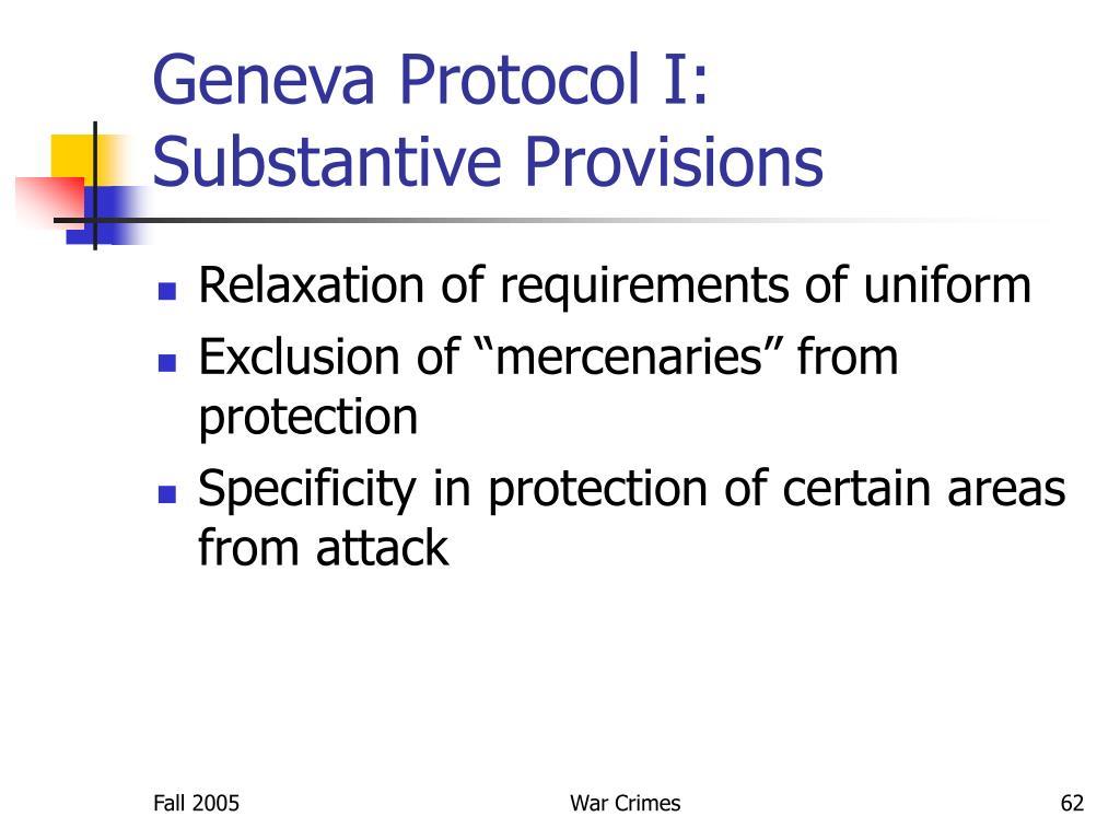 Geneva Protocol I:
