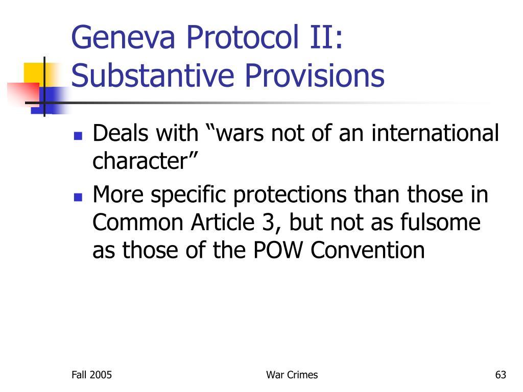 Geneva Protocol II: