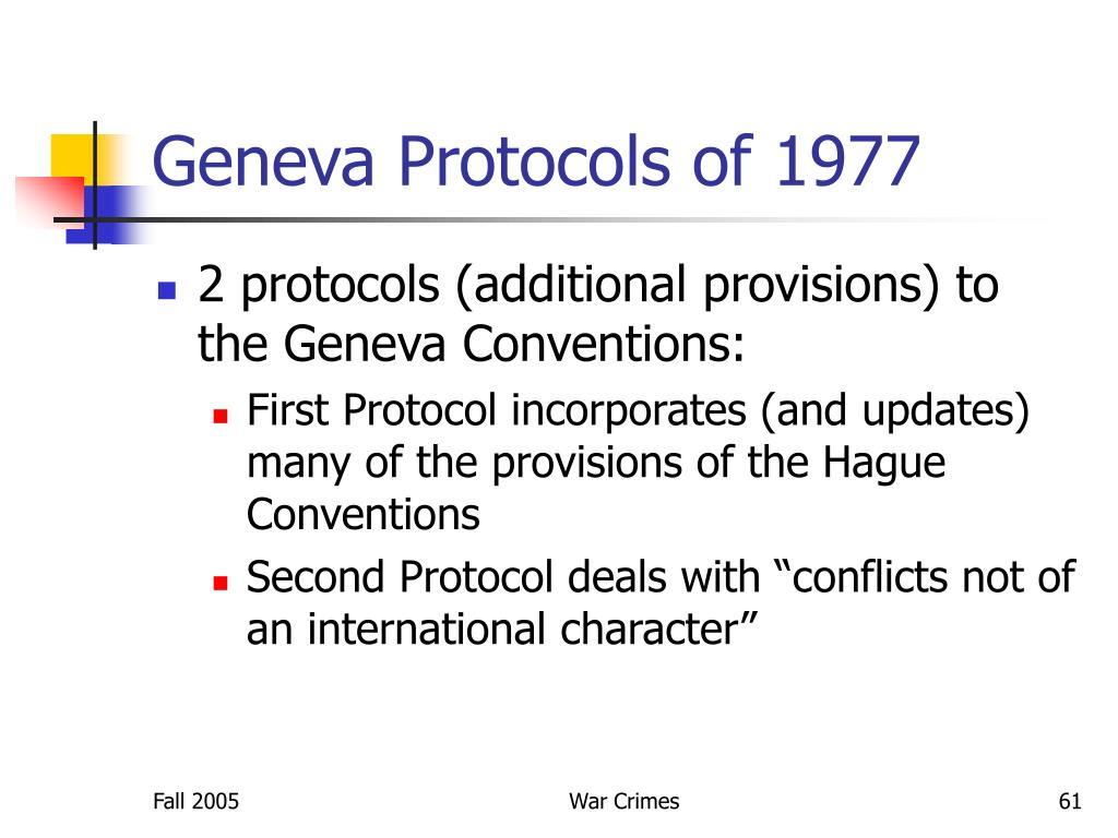 Geneva Protocols of 1977