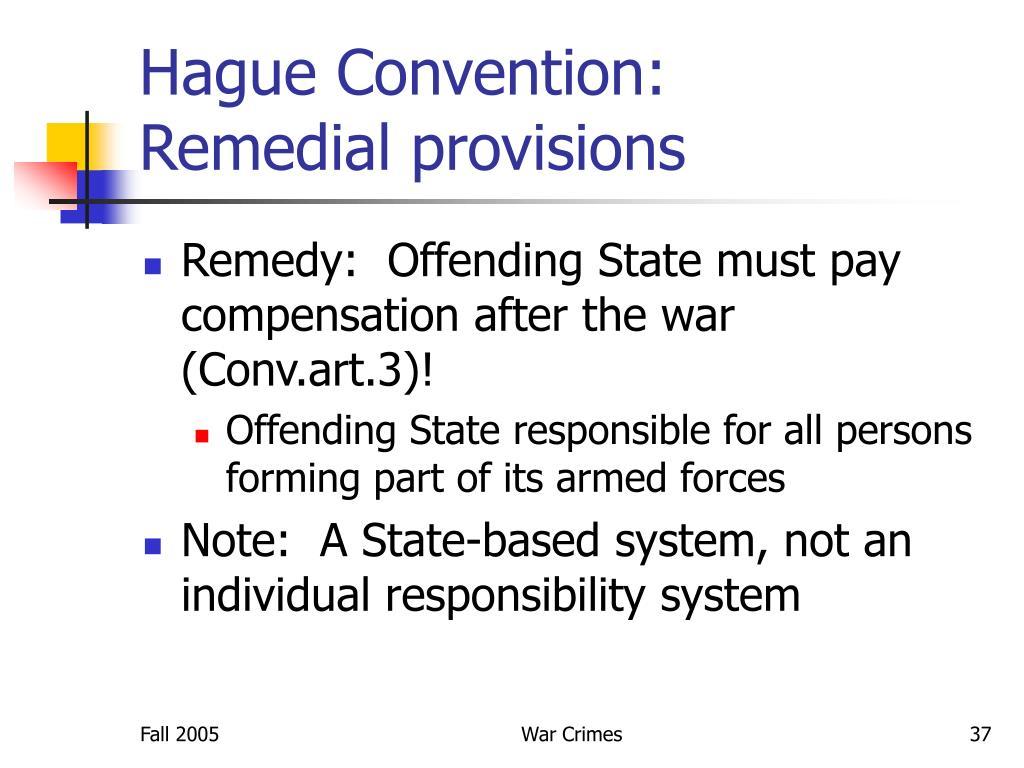 Hague Convention: