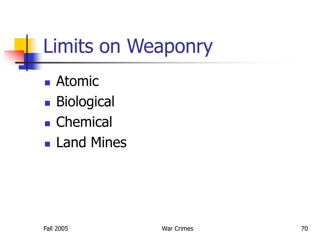 Limits on Weaponry
