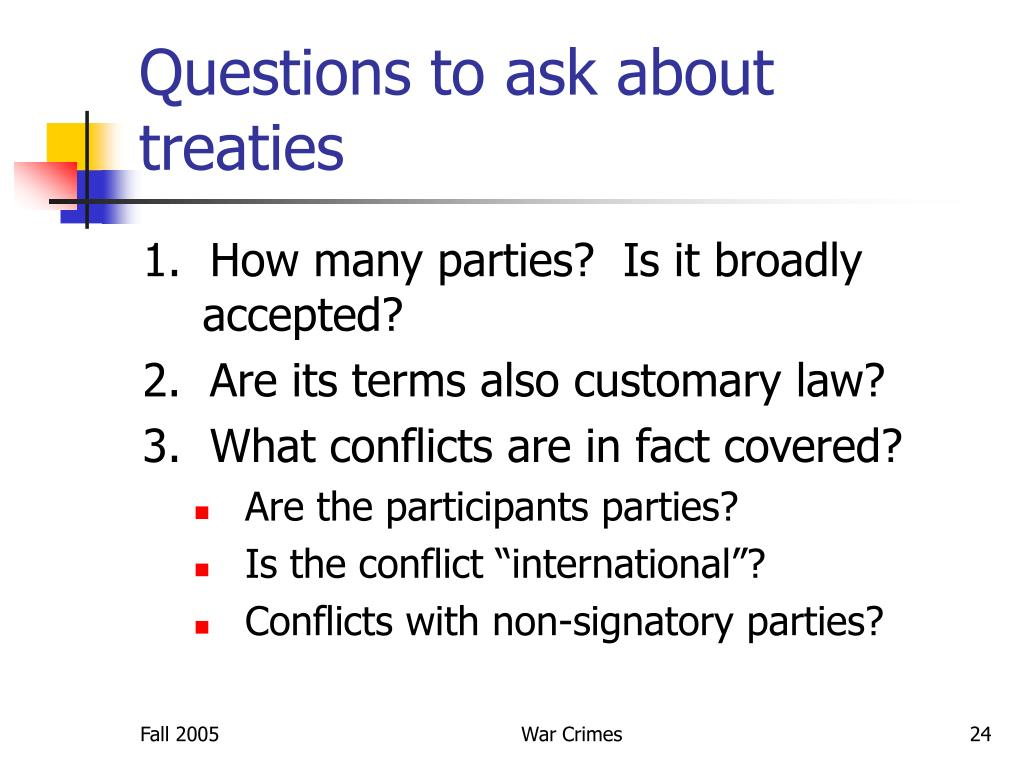 Questions to ask about treaties