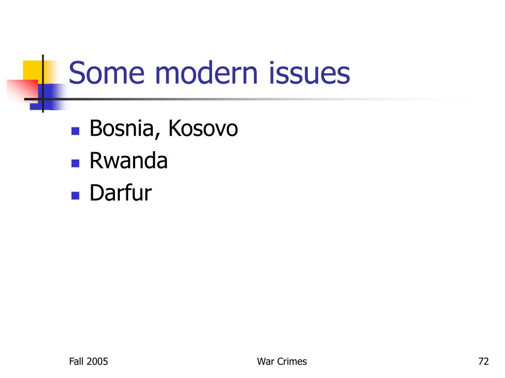 Some modern issues